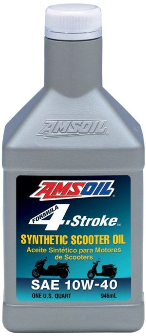 AMSOIL Synthetic Formula 4-Stroke SAE 10W-40 Scooter Oil