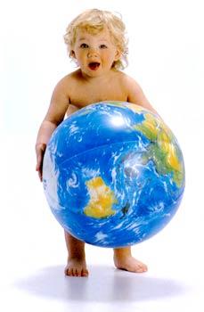Baby-and-Globe