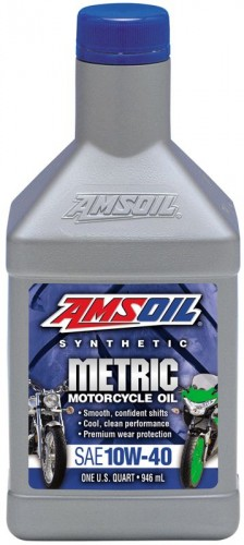 AMSOIL Synthetic Metric SAE 10W-40 Motorcycle Oil