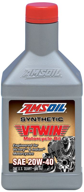 AMSOIL Synthetic V-Twin Motorcycle Oil SAE 20W-40