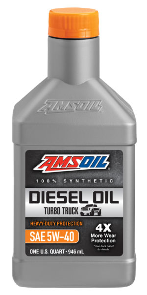 AMSOIL Heavy-Duty Synthetic SAE 5W-40 Diesel Oil