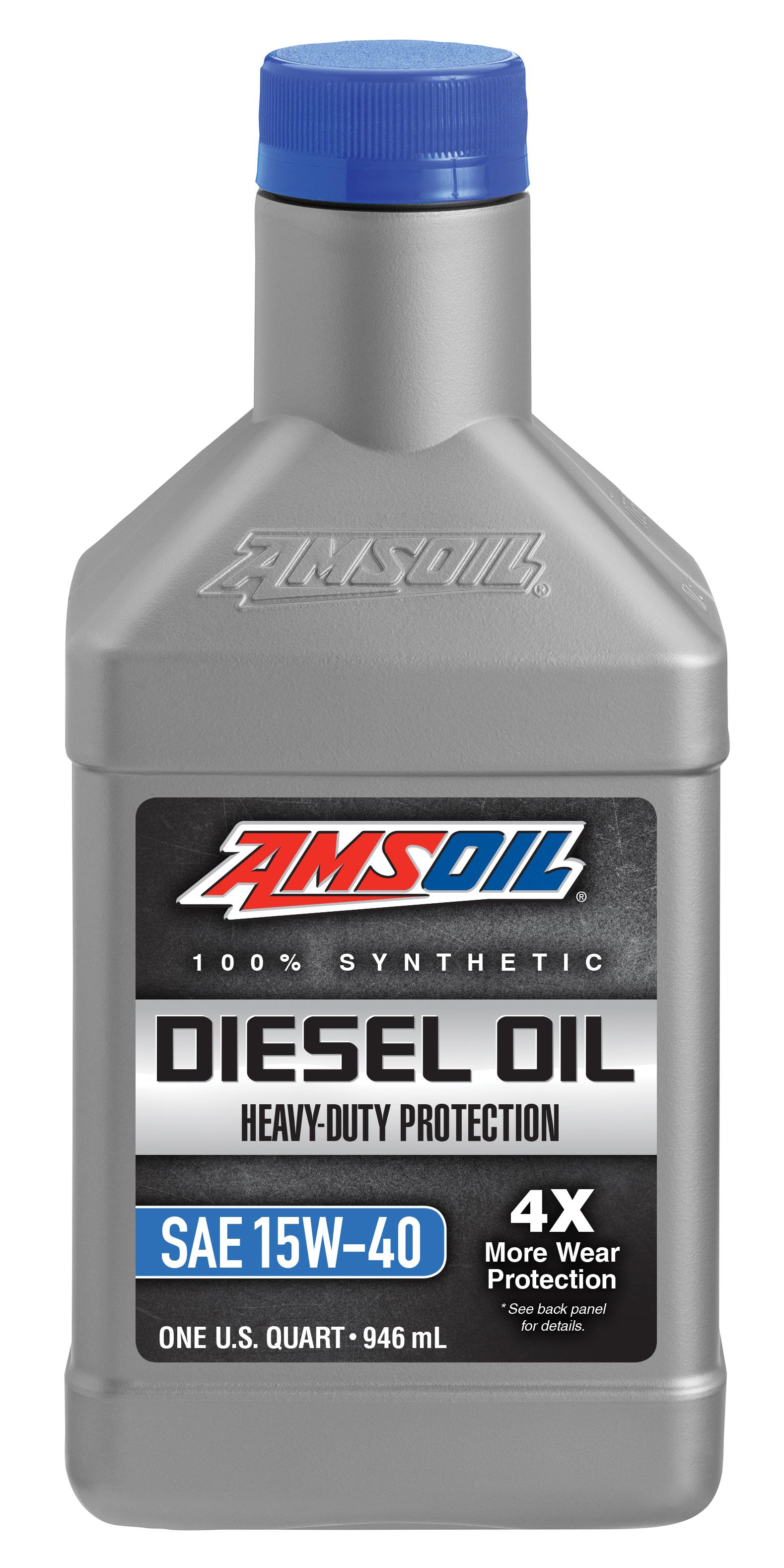 AMSOIL Heavy-Duty Synthetic SAE 15W-40 Diesel Oil