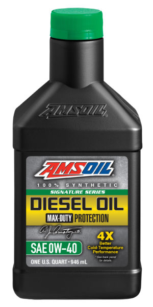 AMSOIL Signature Series Synthetic Max-Duty SAE 0W-40 Diesel Oil