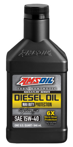 AMSOIL Signature Series Max-Duty Synthetic SAE 15W-40 Diesel Oil