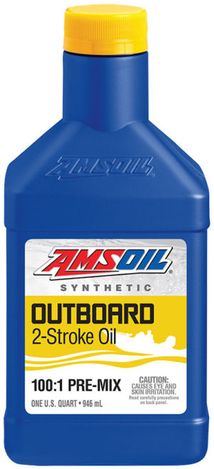 AMSOIL Synthetic Outboard 2-Stroke Oil 100:1 Pre-Mix