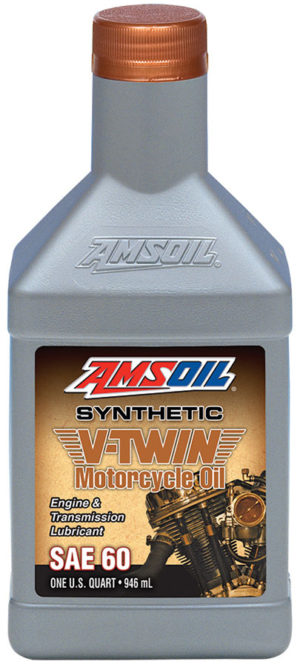 AMSOIL SAE 60 Synthetic V-Twin Motorcycle Oil