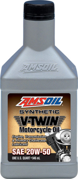 AMSOIL SAE 20W-50 V-Twin Synthetic Motorcycle Oil