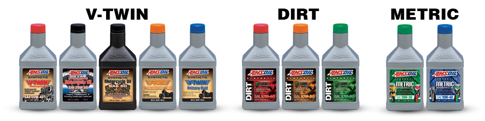 AMSOIL offers something for every type of biker, from motocross racers and off-road riders to V-Twin and metric enthusiasts. AMSOIL motorcycle products deliver the power, performance and protection that every biker wants, no matter the motivation for getting on the bike.