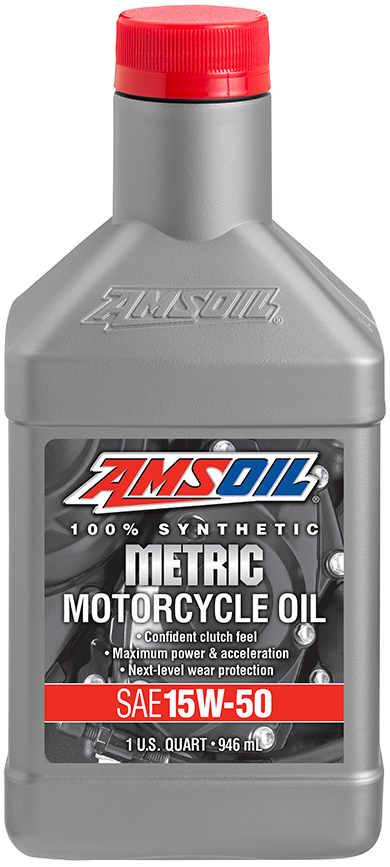 AMSOIL Synthetic SAE 15W-50 Metric Motorcycle Oil