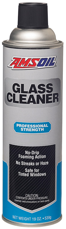 AMSOIL Glass Cleaner provides a professional-strength formula that effectively cuts through grease and grime faster than other leading glass cleaners.