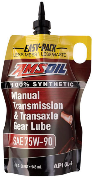 AMSOIL Synthetic SAE 75W-90 Manual Transmission & Transaxle Gear Lube Now Available in Easy-Packs