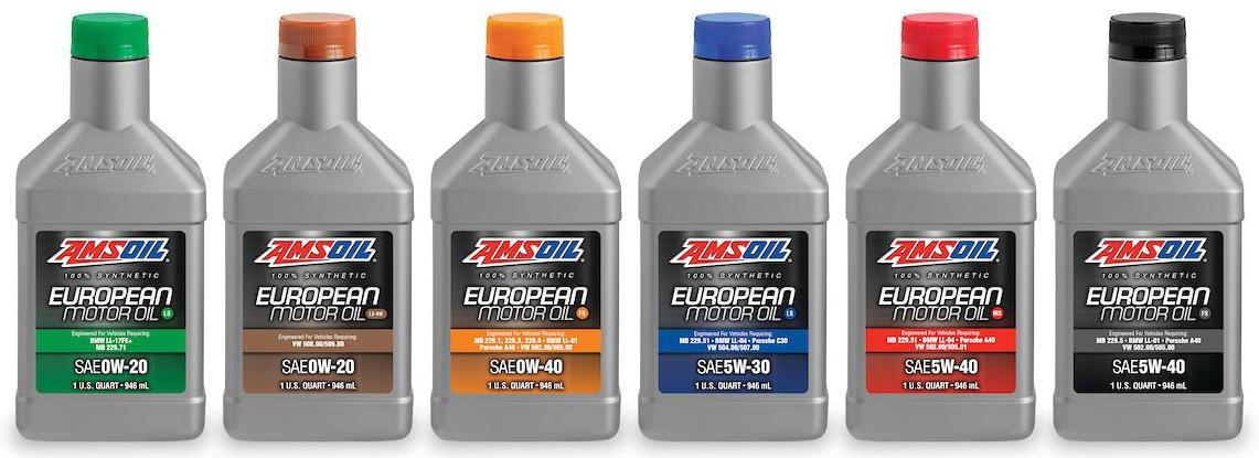 AMSOIL European Formula Synthetic Motor Oils